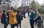 Посета Микином споменику и полагање венаца у Дунавском парку